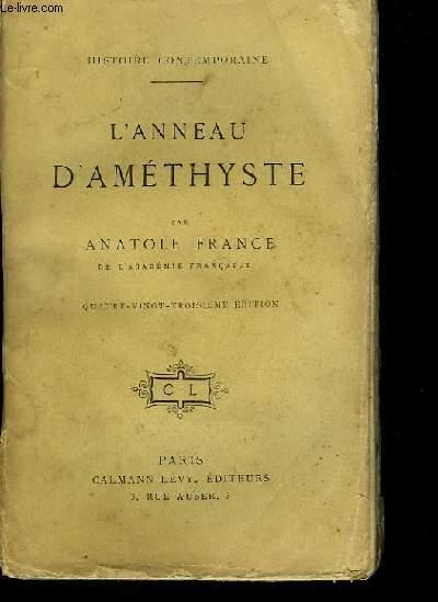 L'Anneau d'Améthyste