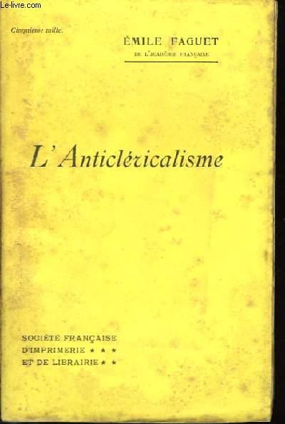 L'Anticléricalisme.