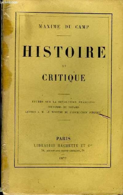 Histoire et Critique.