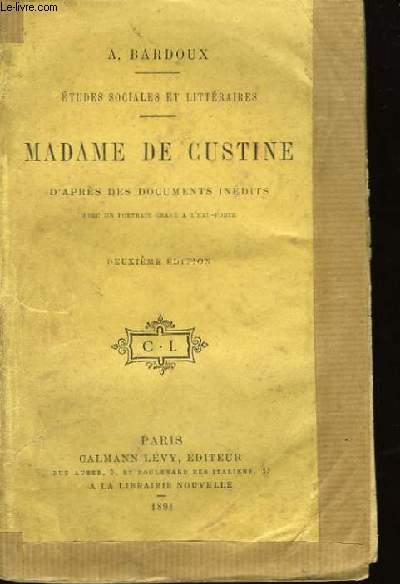 Madame de Custine.