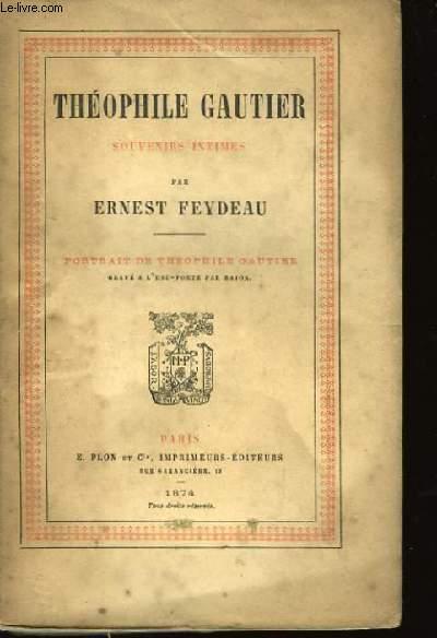 Théophile Gautier, Souvenirs Intimes
