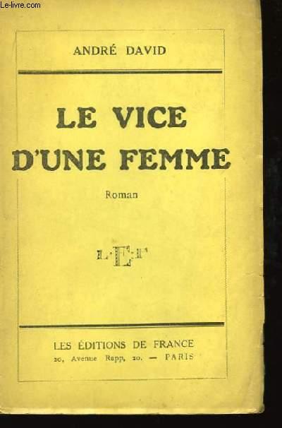 Le vice d'une femme