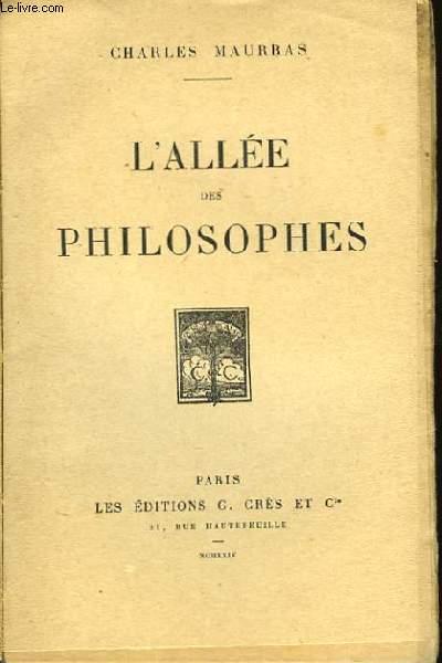 L'Allée des Philosophes.