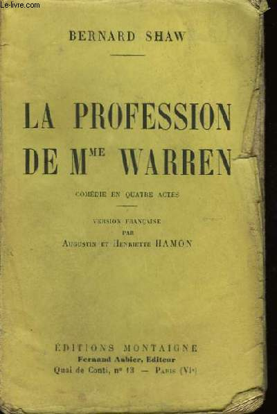 La profession de Mme Warren.