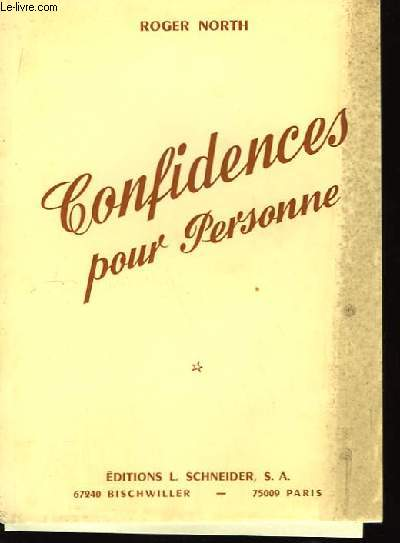Confidences pour personne