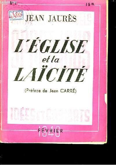 Cahiers Spartacus N°1. L'Eglise et la Laïcité, ou l'Eternité et les Circonstances.