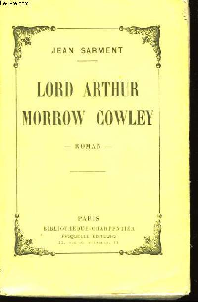 Lord Arthur Morrow Cowley