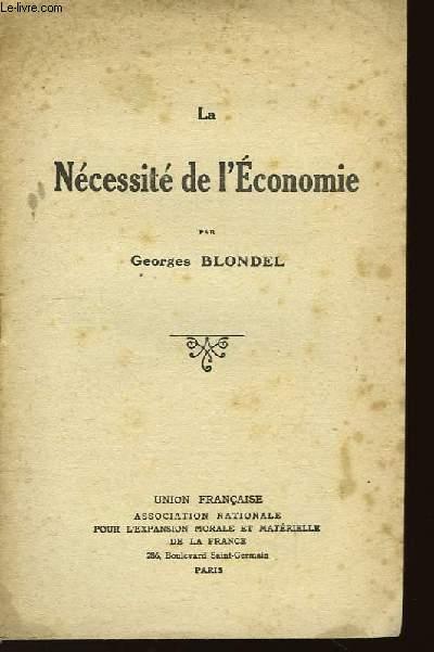 La Nécessité de l'Economie.