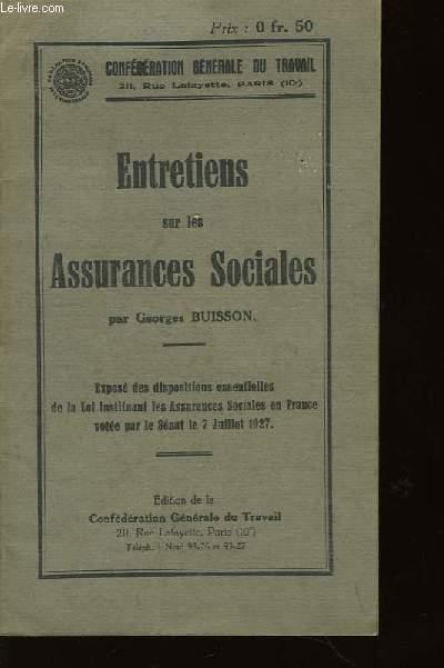 Entretiens sur les Assurances Sociales