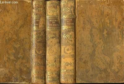 Chefs d'Oeuvre Dramatiques de Voltaire. 3 tomes sur 4 (TOMES 2, 3 et 4).