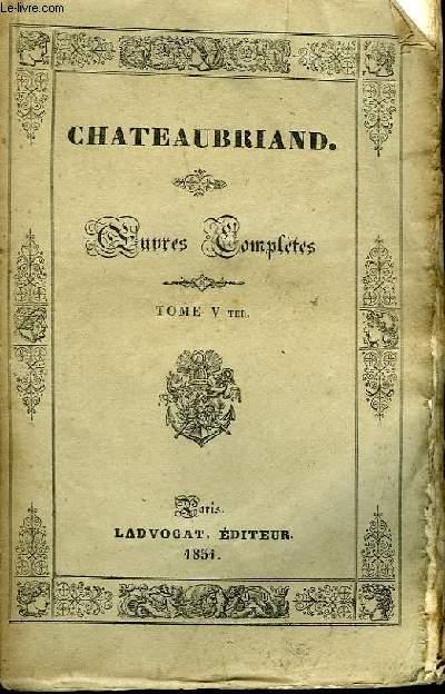 Oeuvres Complètes. TOME V Ter, 13ème livraison : Etudes ou Discours Historiques, 4ème partie.