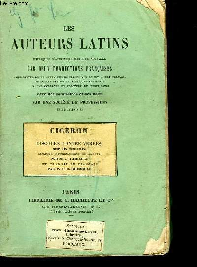 Les auteurs latins. Cicéron, Discours contre Verres sur les Statues.