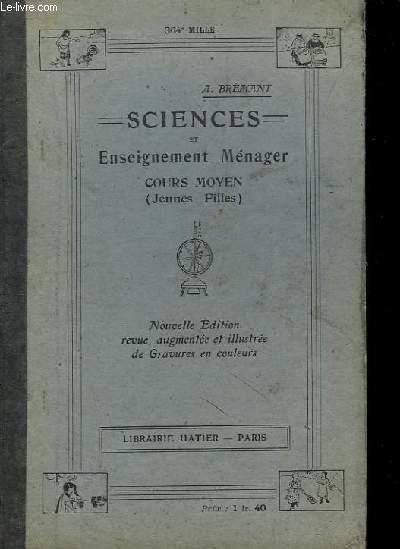 Sciences et Enseignement Ménager. Cours Moyen.