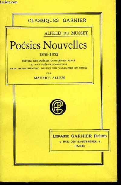 Poésies Nouvelles. 1836 - 1852