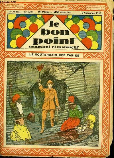 Le Bon Point, amusant et instructif, N°1040 : Le souterrain des fakirs.