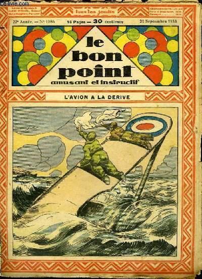 Le Bon Point, amusant et instructif, 22ème année n°1086 : L'avion à la dérive.