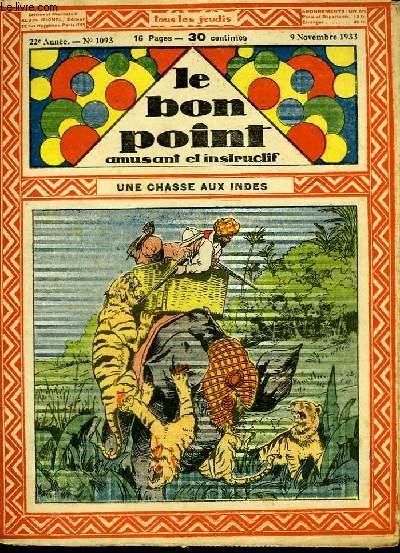 Le bon point, amusant et instructif. 22ème année, n°1093 : Une chasse aux Indes.