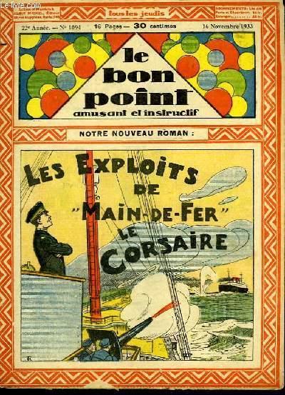 Le bon point, amusant et instructif. 22ème année, n°1094 : Les exploits de Main-de-Fer, le Corsaire.