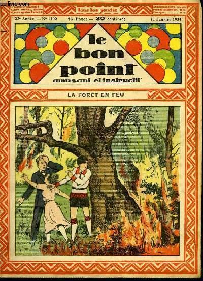 Le bon point, amusant et instructif. 23ème année, n°1102 : La forêt en feu.