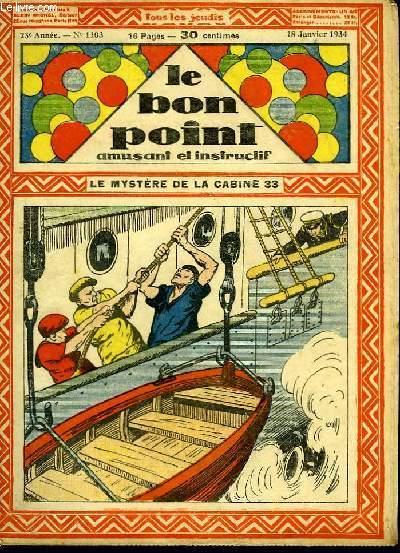 Le bon point, amusant et instructif. 23ème année, n°1103 : Le mystère de la cabine 33.