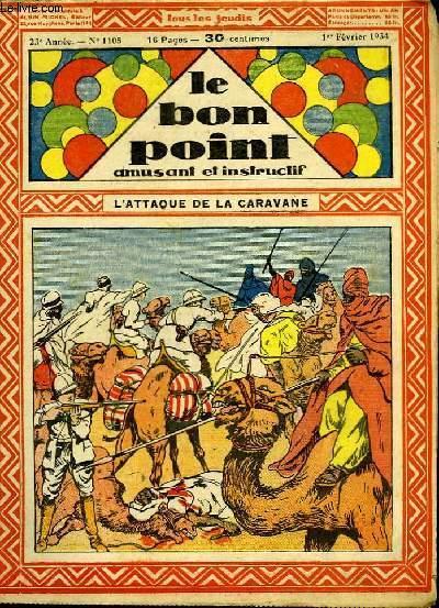 Le bon point, amusant et instructif. 23ème année, n°1105 : L'attaque de la caravane.