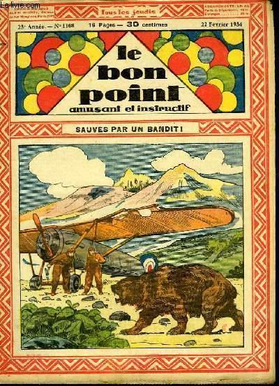 Le bon point, amusant et instructif. 23ème année, n°1108 : Sauvés par un bandit !