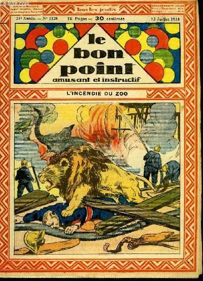 Le bon point, amusant et instructif. 23ème année, n°1128 : L'incendie du zoo.