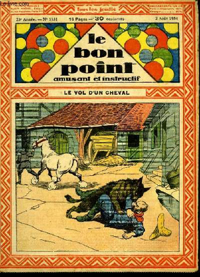 Le bon point, amusant et instructif. 23ème année, n°1131 : Le vol d'un cheval.