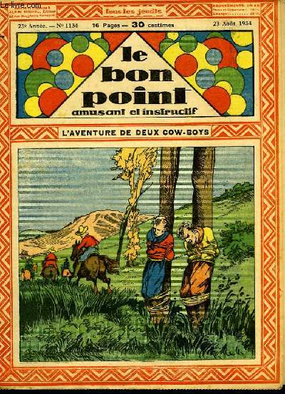 Le bon point, amusant et instructif. 23ème année, n°1134 : L'aventure de deux cow-boys.
