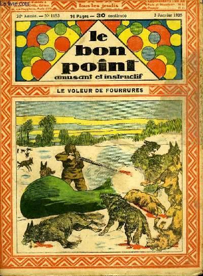 Le bon point, amusant et instructif. 24ème année, n°1153 : Le voleur de fourrures.