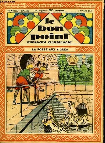 Le bon point, amusant et instructif. 24ème année, n°1158 : La fosse aux tigres.