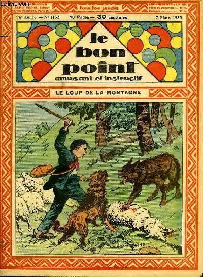 Le bon point, amusant et instructif. 24ème année, n°1162 : Le loup de la montagne.