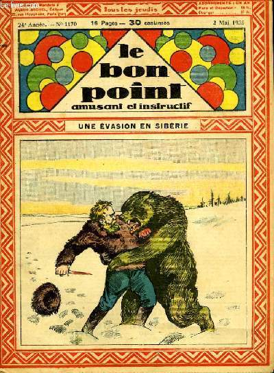 Le bon point, amusant et instructif. 24ème édition, n°1170 : Une évasion en Sibérie.