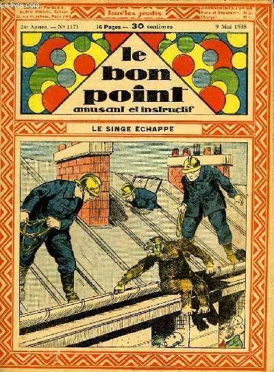 Le bon point, amusant et instructif. 24ème année, n°1171 : Le singe échappé.