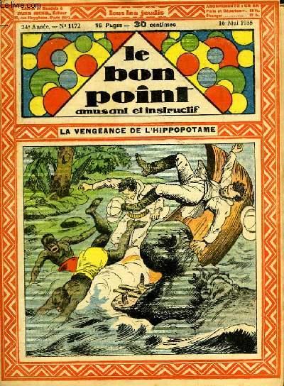 Le bon point, amusant et instructif. 24ème année, n°1172 : La vengeance de l'hippopotame.
