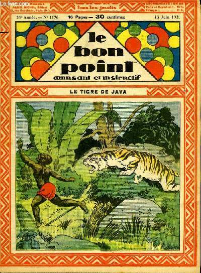 Le bon point, amusant et instructif. 24ème année, n°1176 : Le tigre de Java.