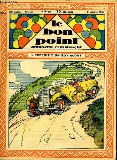 Le bon point, amusant et instructif. 24ème année, n°1180 : L'exploit d'un Boy-Scout.
