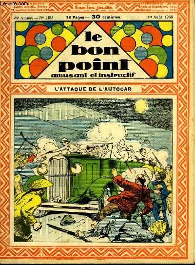 Le bon point, amusant et instructif. 24ème année, n°1183 : L'attaque de l'autocar.