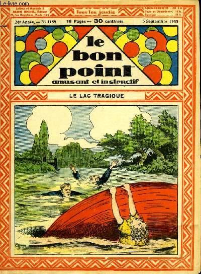 Le bon point, amusant et instructif. 24ème année, n°1188 : Le lac tragique.