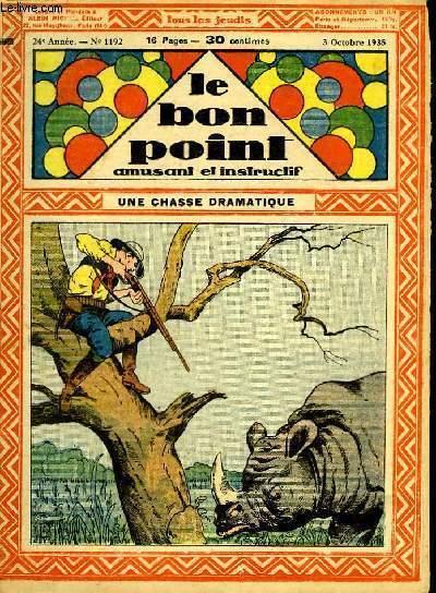 Le bon point, amusant et instructif. 24ème année, n°1192 : Une chasse dramatique.