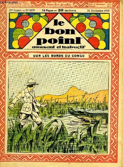 Le bon point, amusant et instructif. 24ème année, n°1199 : sur les bords du Congo.