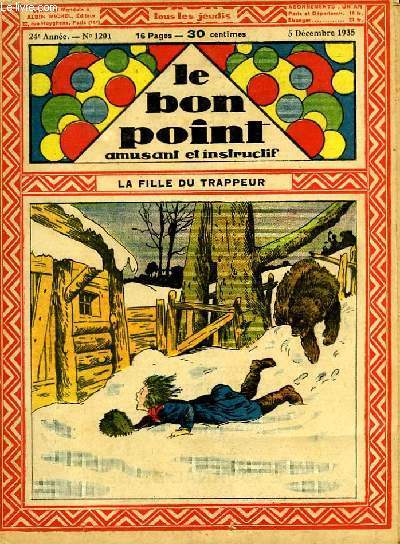 Le bon point, amusant et instructif. 24ème année, n°1201 : La fille du trappeur.