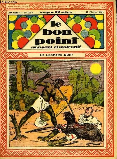 Le bon point, amusant et instructif. 25ème année, n°1213 : Le léopard noir.