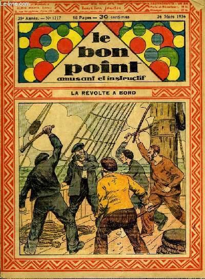 Le bon point, amusant et instructif. 25ème année, n°1217 : La révolte à bord.
