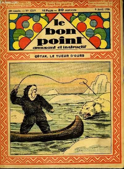 Le bon point, amusant et instruction. 25ème année, n°1219 : Goyak, le tueur d'Ours.