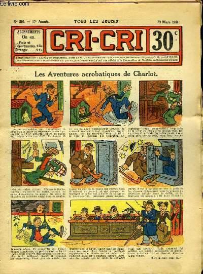 Cri-Cri n°809, 17ème année : Les Aventures acrobatiques de Charlot.