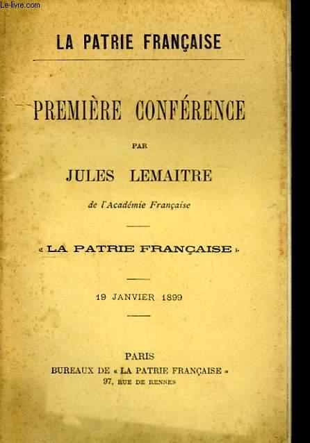 La Patrie Française.