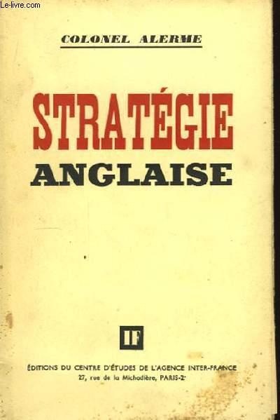 Stratégie Anglaise.