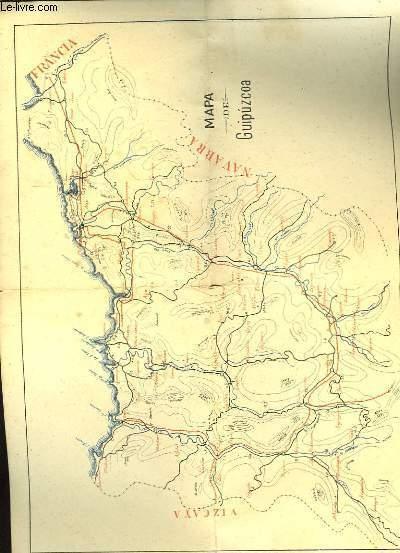Mapa de Giupuzcoa