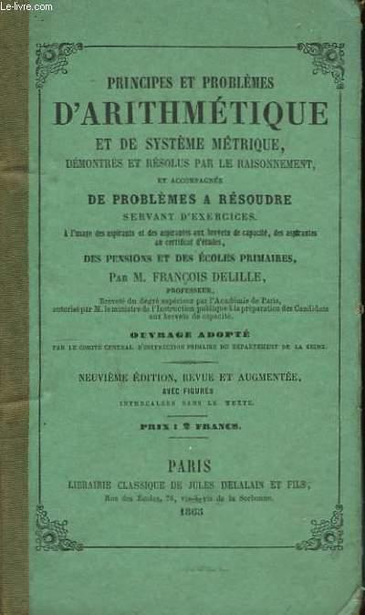 Principes et Problèmes d'Arithmétique et de Système Métrique.